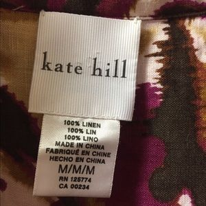 Kate Hill Tops - Kate Hill Abstract Watercolor 100% Linen Top
